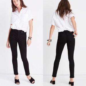 "Madewell 9"" Mid-Rise Skinny Jeans ISKO Stay Black"